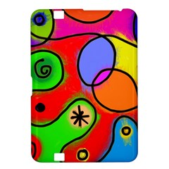 Digitally Painted Patchwork Shapes With Bold Colours Kindle Fire Hd 8 9
