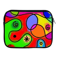 Digitally Painted Patchwork Shapes With Bold Colours Apple iPad 2/3/4 Zipper Cases