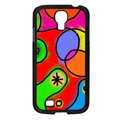 Digitally Painted Patchwork Shapes With Bold Colours Samsung Galaxy S4 I9500/ I9505 Case (black)