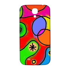Digitally Painted Patchwork Shapes With Bold Colours Samsung Galaxy S4 I9500/I9505  Hardshell Back Case