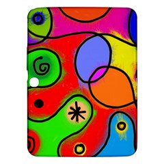 Digitally Painted Patchwork Shapes With Bold Colours Samsung Galaxy Tab 3 (10.1 ) P5200 Hardshell Case