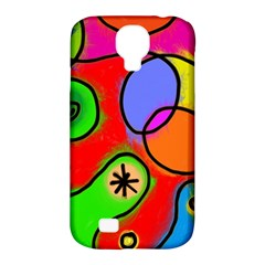 Digitally Painted Patchwork Shapes With Bold Colours Samsung Galaxy S4 Classic Hardshell Case (pc+silicone)