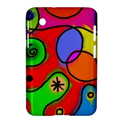 Digitally Painted Patchwork Shapes With Bold Colours Samsung Galaxy Tab 2 (7 ) P3100 Hardshell Case