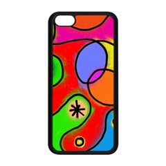 Digitally Painted Patchwork Shapes With Bold Colours Apple Iphone 5c Seamless Case (black)