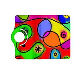 Digitally Painted Patchwork Shapes With Bold Colours Kindle Fire HD (2013) Flip 360 Case