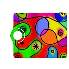 Digitally Painted Patchwork Shapes With Bold Colours Kindle Fire Hdx 8 9  Flip 360 Case