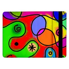 Digitally Painted Patchwork Shapes With Bold Colours Samsung Galaxy Tab Pro 12 2  Flip Case