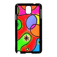 Digitally Painted Patchwork Shapes With Bold Colours Samsung Galaxy Note 3 Neo Hardshell Case (Black)