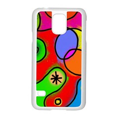Digitally Painted Patchwork Shapes With Bold Colours Samsung Galaxy S5 Case (White)