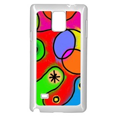 Digitally Painted Patchwork Shapes With Bold Colours Samsung Galaxy Note 4 Case (white)