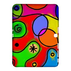 Digitally Painted Patchwork Shapes With Bold Colours Samsung Galaxy Tab 4 (10.1 ) Hardshell Case