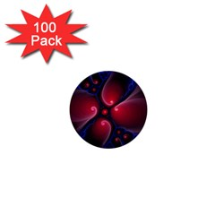 Color Fractal Pattern 1  Mini Buttons (100 pack)
