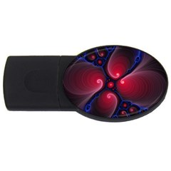 Color Fractal Pattern Usb Flash Drive Oval (2 Gb)