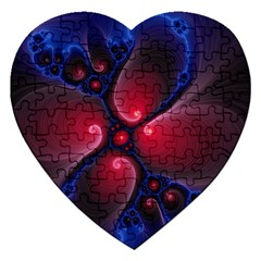 Color Fractal Pattern Jigsaw Puzzle (heart)