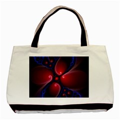 Color Fractal Pattern Basic Tote Bag (Two Sides)