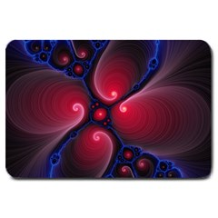 Color Fractal Pattern Large Doormat