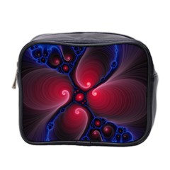 Color Fractal Pattern Mini Toiletries Bag 2-Side