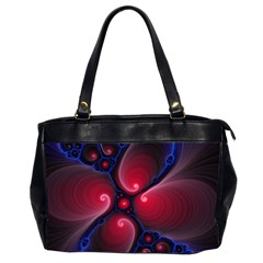 Color Fractal Pattern Office Handbags (2 Sides)
