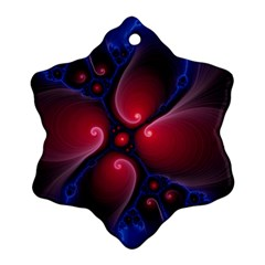 Color Fractal Pattern Snowflake Ornament (two Sides)