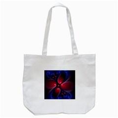 Color Fractal Pattern Tote Bag (white)