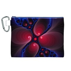 Color Fractal Pattern Canvas Cosmetic Bag (XL)