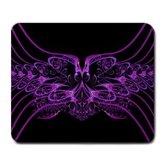 Beautiful Pink Lovely Image In Pink On Black Large Mousepads