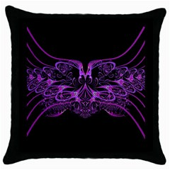 Beautiful Pink Lovely Image In Pink On Black Throw Pillow Case (Black)