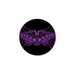 Beautiful Pink Lovely Image In Pink On Black Golf Ball Marker (4 Pack)