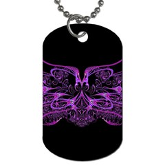 Beautiful Pink Lovely Image In Pink On Black Dog Tag (Two Sides)