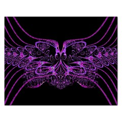 Beautiful Pink Lovely Image In Pink On Black Rectangular Jigsaw Puzzl