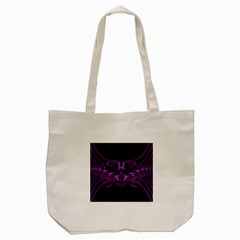 Beautiful Pink Lovely Image In Pink On Black Tote Bag (Cream)