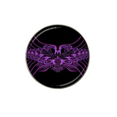 Beautiful Pink Lovely Image In Pink On Black Hat Clip Ball Marker (4 pack)