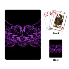 Beautiful Pink Lovely Image In Pink On Black Playing Card