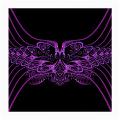 Beautiful Pink Lovely Image In Pink On Black Medium Glasses Cloth (2-Side)