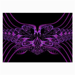 Beautiful Pink Lovely Image In Pink On Black Large Glasses Cloth