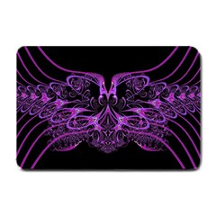 Beautiful Pink Lovely Image In Pink On Black Small Doormat