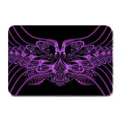Beautiful Pink Lovely Image In Pink On Black Plate Mats