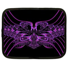 Beautiful Pink Lovely Image In Pink On Black Netbook Case (large)