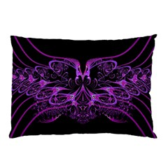 Beautiful Pink Lovely Image In Pink On Black Pillow Case