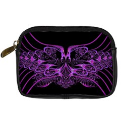 Beautiful Pink Lovely Image In Pink On Black Digital Camera Cases