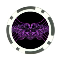 Beautiful Pink Lovely Image In Pink On Black Poker Chip Card Guard (10 Pack)