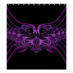 Beautiful Pink Lovely Image In Pink On Black Shower Curtain 66  x 72  (Large)