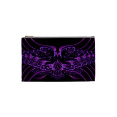 Beautiful Pink Lovely Image In Pink On Black Cosmetic Bag (small)