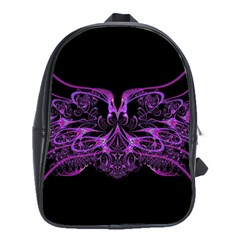 Beautiful Pink Lovely Image In Pink On Black School Bags(Large)