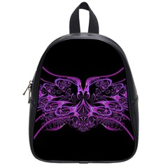 Beautiful Pink Lovely Image In Pink On Black School Bags (small)