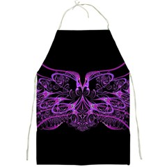 Beautiful Pink Lovely Image In Pink On Black Full Print Aprons