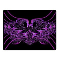 Beautiful Pink Lovely Image In Pink On Black Fleece Blanket (Small)