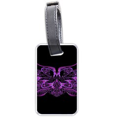Beautiful Pink Lovely Image In Pink On Black Luggage Tags (two Sides)