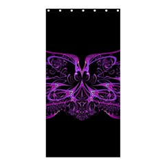Beautiful Pink Lovely Image In Pink On Black Shower Curtain 36  X 72  (stall)