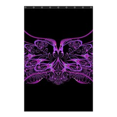 Beautiful Pink Lovely Image In Pink On Black Shower Curtain 48  x 72  (Small)